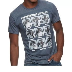 Star Wars expressions of r2d2 T-shirt NWT